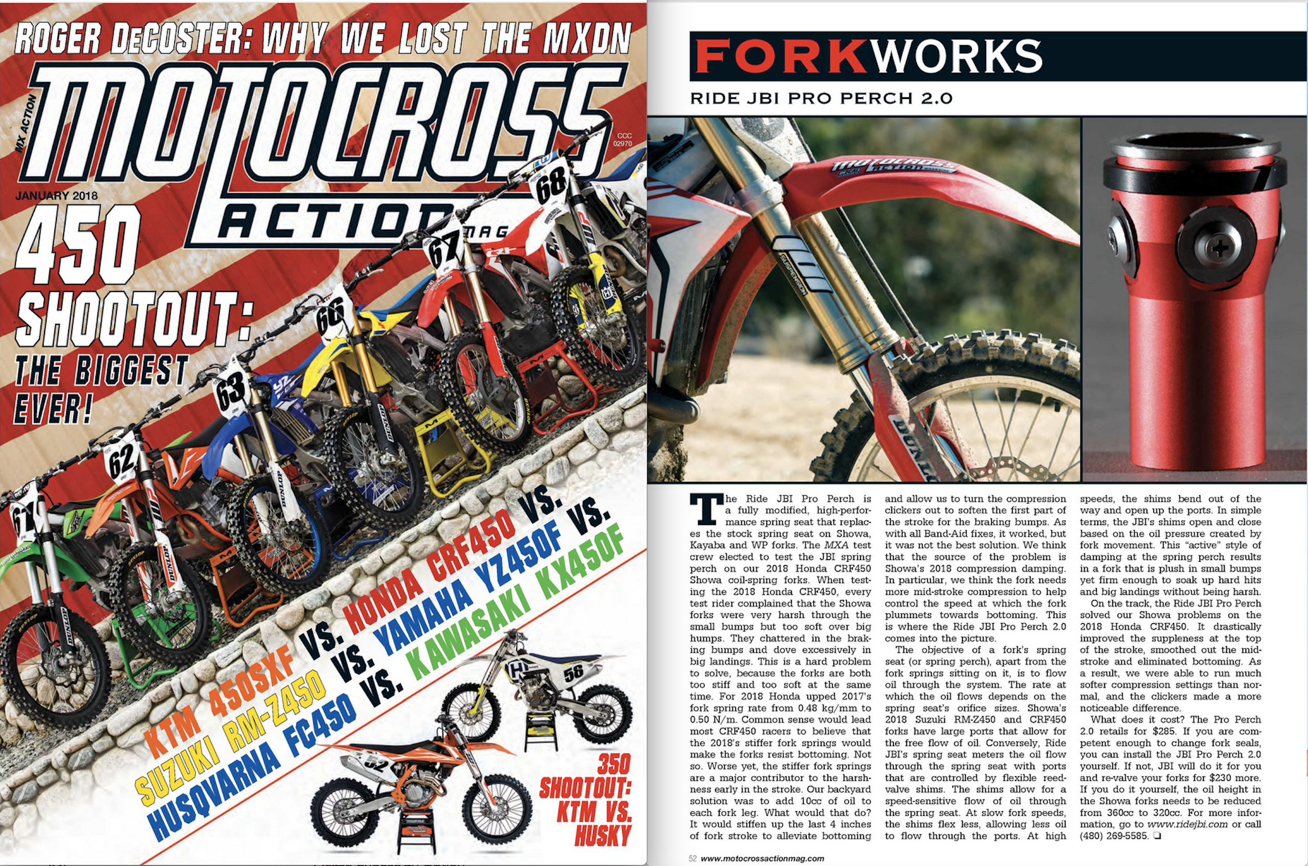 JBI Pro Perch 2.0 Motocross Action Mag Review